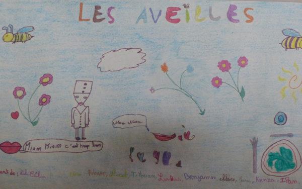 Un dessin de remerciment fait par des enfants