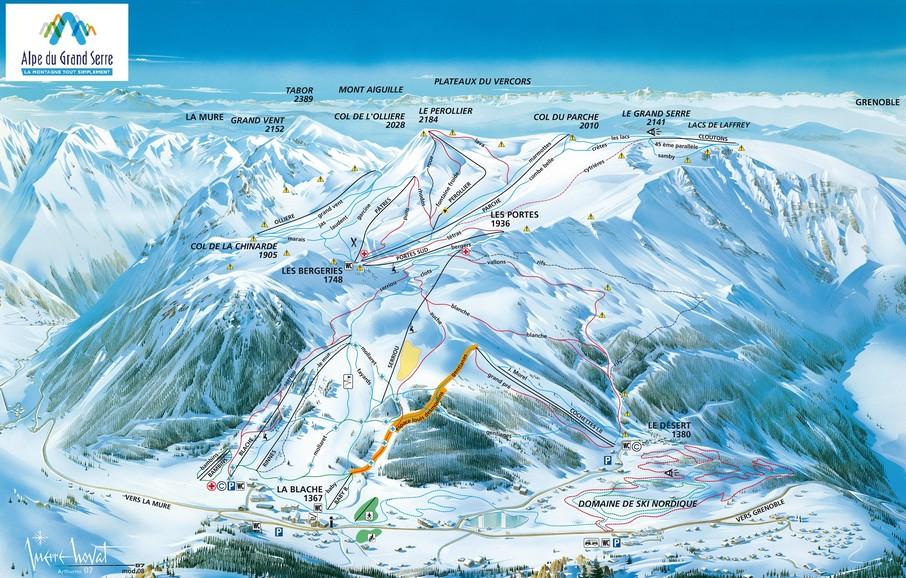 Domaine skiable de l'Alpe du Grand Serre