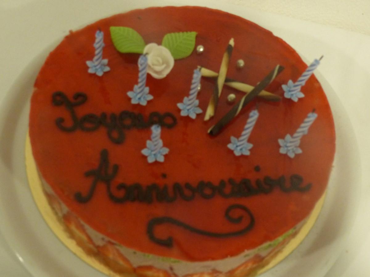 Un gâteau pour un anniversaire
